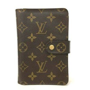 Auth Louis Vuitton Porte Papier Zipper #7995X11